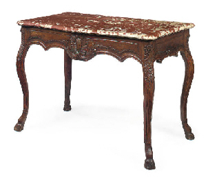 A LOUIS XV PROVINCIAL MARBLE-T