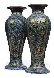 A PAIR OF KASHMIR LACQUER VASE