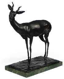 AN ITALIAN BRONZE MODEL OF AN