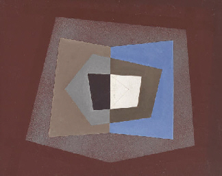 Abstraction with Blue, Brown a