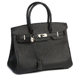 HERMÈS, A BLACK EPSOM LEATHER