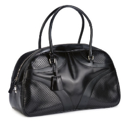 PRADA, A BLACK 'VITELLO DRIVE'