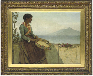 The tambourine girl, Capri
