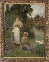Feeding the ducks, a summer da