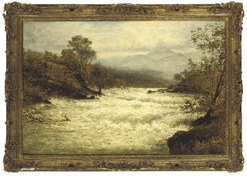 A flood on the Llugwy