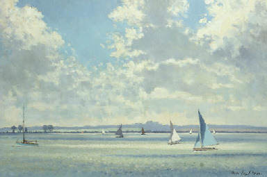 Yachts in an estuary
