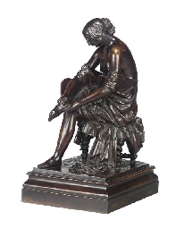 A FRENCH BRONZE FIGURE ENTITLE