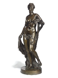 A FRENCH BRONZE FIGURE OF AMPH