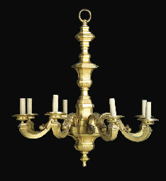 A FRENCH ORMOLU EIGHT-LIGHT CH