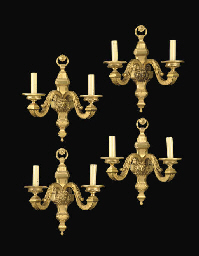 A SET OF FOUR FRENCH ORMOLU TW