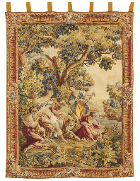 AN AUBUSSON PICTORIAL TAPESTRY