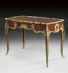 A FRENCH ORMOLU-MOUNTED SATINE