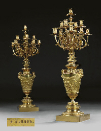 A PAIR OF RUSSIAN ORMOLU ELEVE