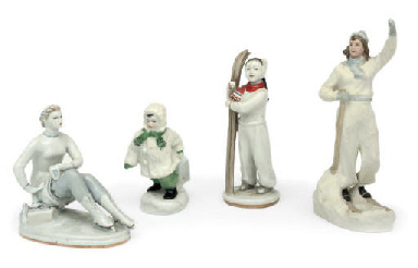 A GROUP OF RUSSIAN PORCELAIN F