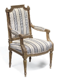 A FRENCH GILTWOOD FAUTEUIL