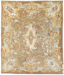 An antique Aubusson carpet