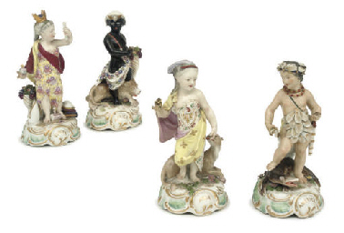 A SET OF FOUR SAMSON FIGURES A
