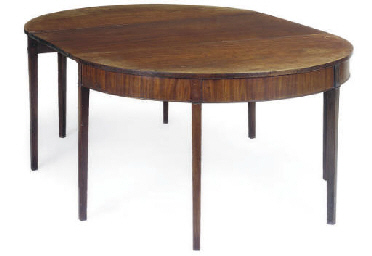 A GEORGE III MAHOGANY DINING T