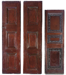 THREE VICTORIAN MAHOGANY DOORS