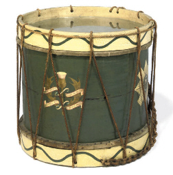A SCOTTISH PAINTED WOOD DRUM C