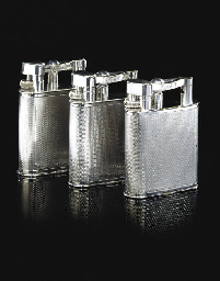 A GROUP OF THREE CHROME-PLATED