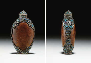 **AN UNUSUAL CLOISONNÉ-ENAMEL