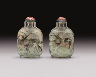 **AN INSIDE-PAINTED GLASS SNUFF BOTTLE
