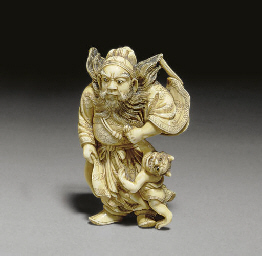 Two Ivory Netsuke and an Ivory