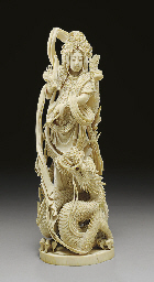 An Ivory Figure of Kannon**