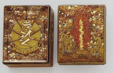 A Lacquer Box with Kurikara Dr