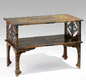 A Lacquer Two-Tier Table