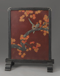 A Lacquer Standing Screen (Tsu