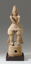 A Large Haniwa Male Figure
