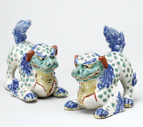 A Pair of Porcelain Models of