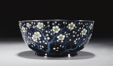 A Plique-a-jour Enamel Bowl