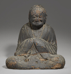 A Seated Wood Figure of Sogyo