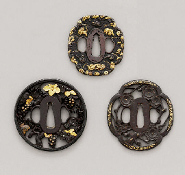 A Mino School Tsuba and Two Ky