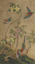 Birds and flowers (Hwacho)