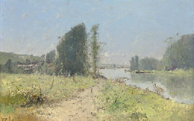 On the river at L'Yonne, Bourg