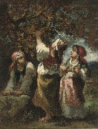 Trois Bohémiennes près d'un ar