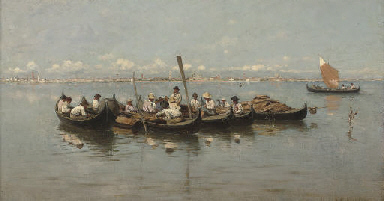 Fishermen on the Venetian lago