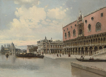 Before the Doge's palace, Veni