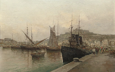 On the quay, Naples