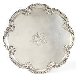 A GEORGE III SILVER SALVER