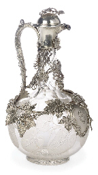 A VICTORIAN SILVER MOUNTED CLA