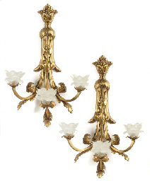 A PAIR OF GILT BRONZE THREE LI