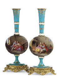 A PAIR OF GILT-METAL-MOUNTED T