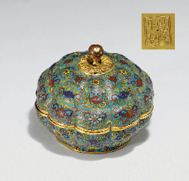 AN UNUSUAL CLOISONNE ENAMEL LO