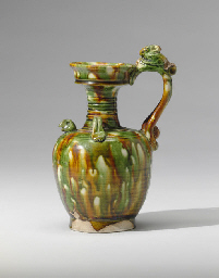 A RARE SANCAI-GLAZED POTTERY P