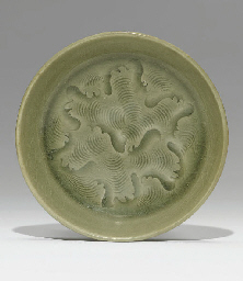 A YAOZHOU CELADON CARVED WASHE
